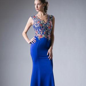 Floral Printed Mermaid Long Dress CDHW09